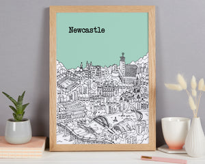 Personalised Newcastle Print