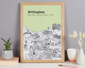 Personalised Nottingham Graduation Gift