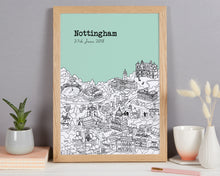 Load image into Gallery viewer, Personalised Nottingham Print