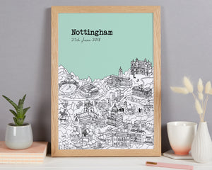 Personalised Nottingham Print