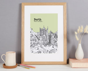 Personalised Perth Print