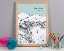 Load image into Gallery viewer, Personalised Portofino Print