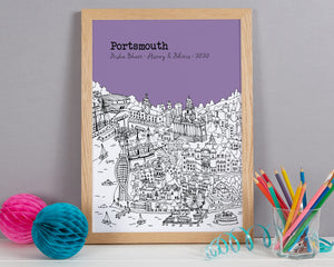 Personalised Portsmouth Graduation Gift