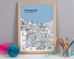 Personalised Portsmouth Print
