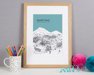 Personalised Amalfi Coast Print