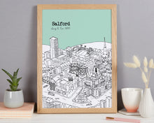 Load image into Gallery viewer, Personalised Salford Print