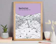 Load image into Gallery viewer, Personalised Santorini Print