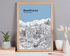 Personalised Sheffield Print