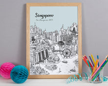 Load image into Gallery viewer, Personalised Singapore Print