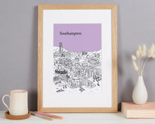 Load image into Gallery viewer, Personalised Southampton Print