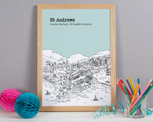 Personalised St Andrews Graduation Gift