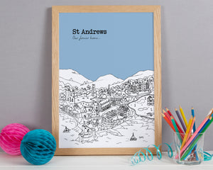 Personalised St Andrews Print