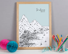 Load image into Gallery viewer, Personalised St Lucia Print