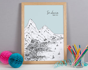 Personalised St Lucia Print