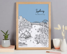 Load image into Gallery viewer, Personalised Sydney Print