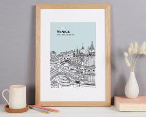 Personalised Venice Print