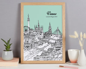 Personalised Vienna Print
