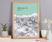 Load image into Gallery viewer, Personalised Washington DC Print
