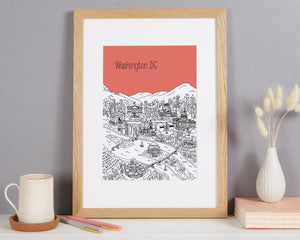 Personalised Washington DC Print