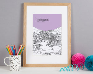 Personalised Wellington Print
