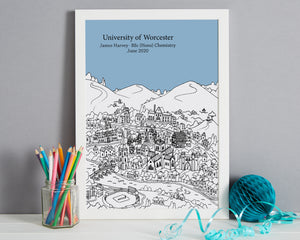 Personalised Worcester Graduation Gift