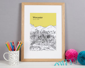 Personalised Worcester Print