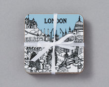 Load image into Gallery viewer, Set of 4 City Illustration Coasters