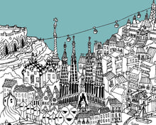 Load image into Gallery viewer, Personalised Barcelona Print-2