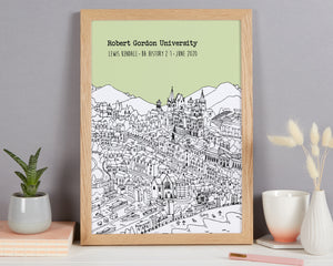 Personalised Aberdeen Graduation Gift