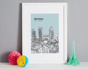 Personalised Barbican Print