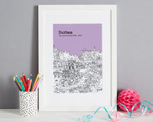 Load image into Gallery viewer, Personalised Durham Print