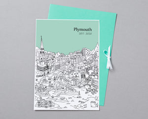 Personalised Plymouth Graduation Gift