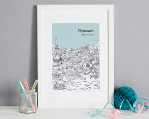 Personalised Plymouth Print