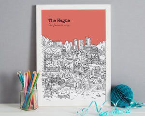 Personalised The Hague Print