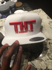 THT Cap-White and Red (Embroidered)