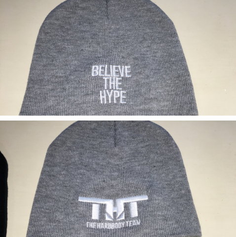 THT Beenie-Grey and White (Embroidered)