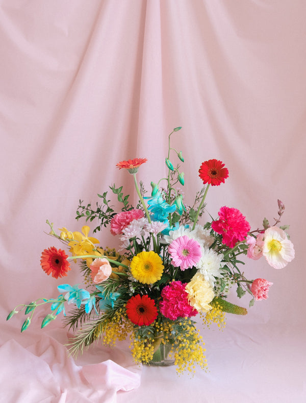 Colourful Flower Bouquet Special Arrangement in Fishbowl for Delivery in Melbourne