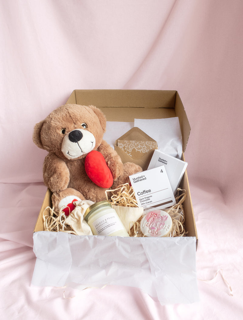 Coffee lovers gift box melbourne free delivery. Flower me softly. Large valentines day gift box.