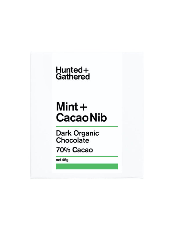 Mint + Cacao Nib Chocolate Hunted Gathered. Chocolate and Flower Delivery in Melbourne. Flower me softly.