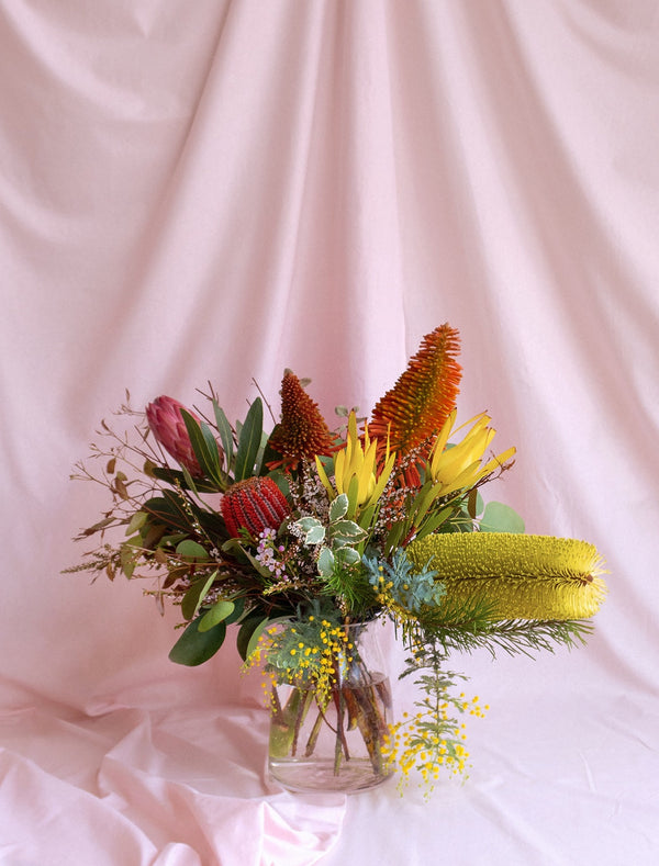 Premium Australian Native Flowers  in Vase for Delivery in Melbourne.