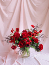 Premium Red Colour Flower Bouquet in Vase for Delivery in Melbourne