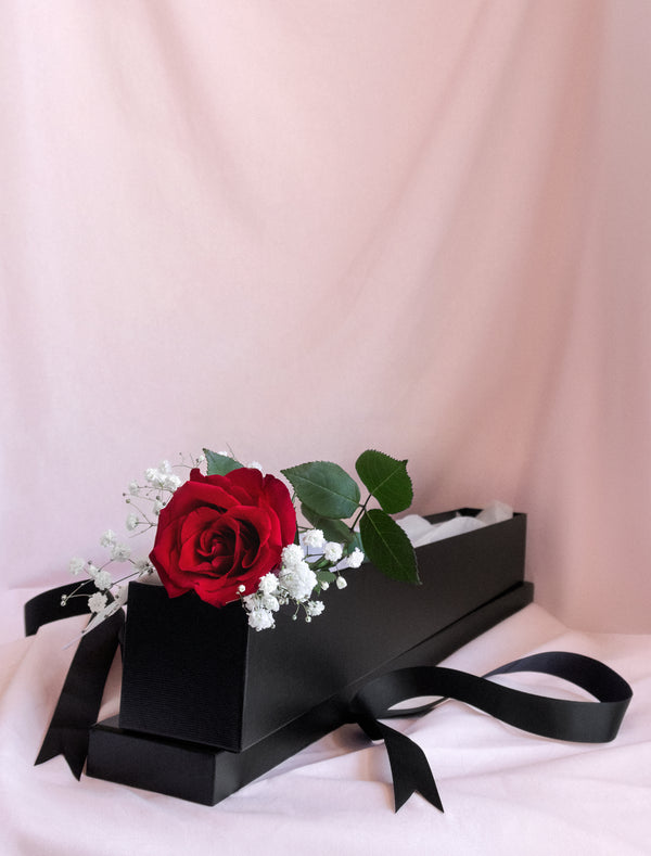 Red Premium Rose in a Box Valentine Day . Flower Me Softly