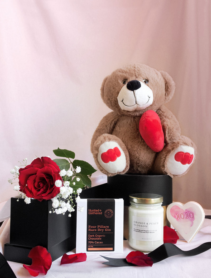 Teddy Bear and flower delivery melbourne. Gift Hampers Delivery Melbourne. Gifts Melbourne. Flower me softly.