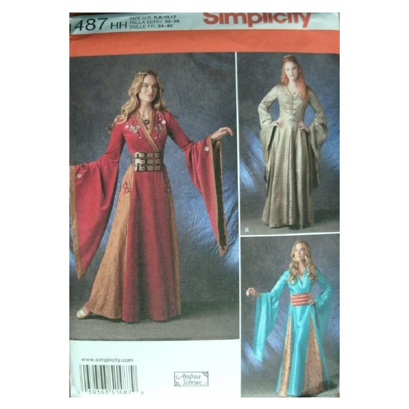 Simplicity Creative Patterns 1487 Misses' Costume Gown, HH (6-8-10-12)