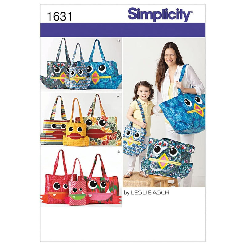Simplicity Creative Patterns 1631 Totes in 3 Sizes