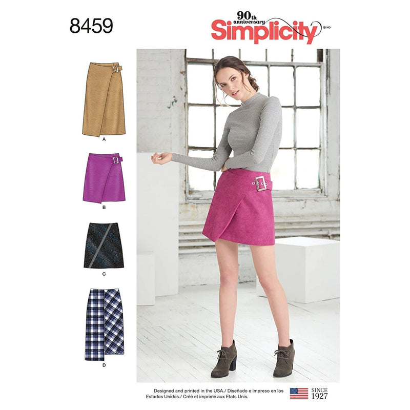 Simplicity Misses' Skirts W/Length & Front Variations-4-6-8-10-12