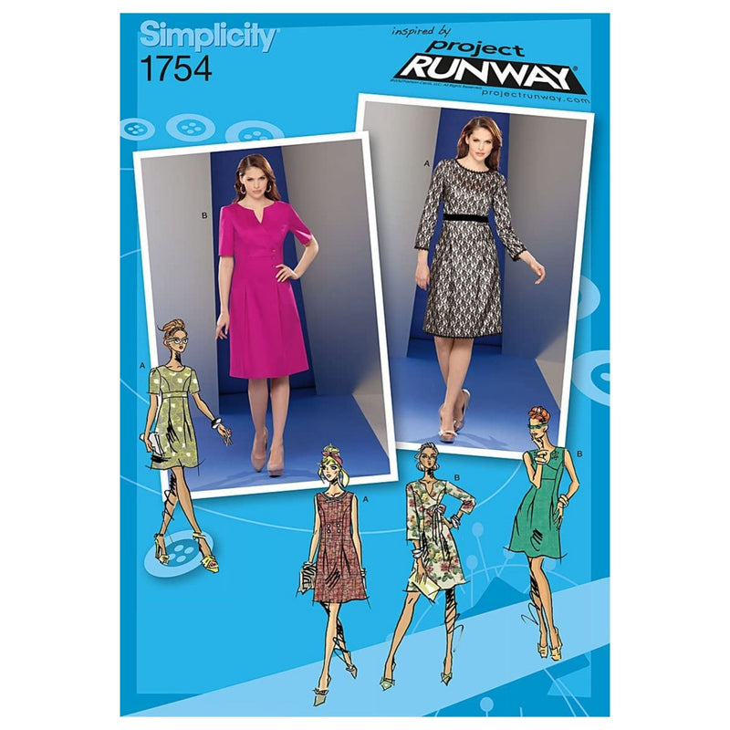 Simplicity Pattern 1754.D5 Misses' Dress Project Runway Collection