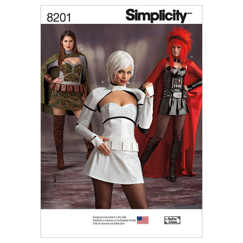 Simplicity Pattern 8201 Misses' Cosplay Costumes, Paper, White, 22 x 15 x 1 cm