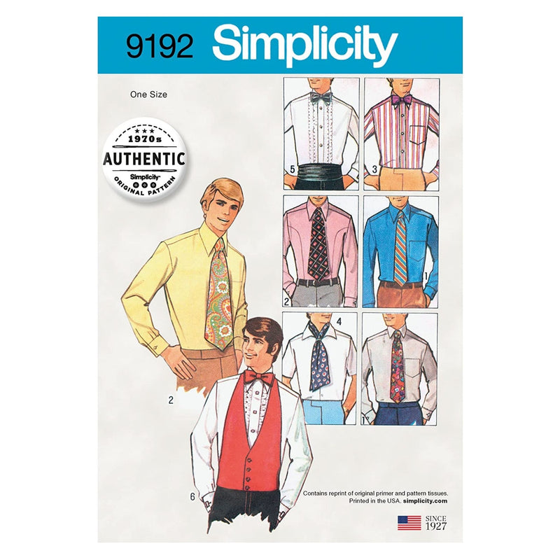 Simplicity Patterns Pattern 9192 Men & Boys-One Size