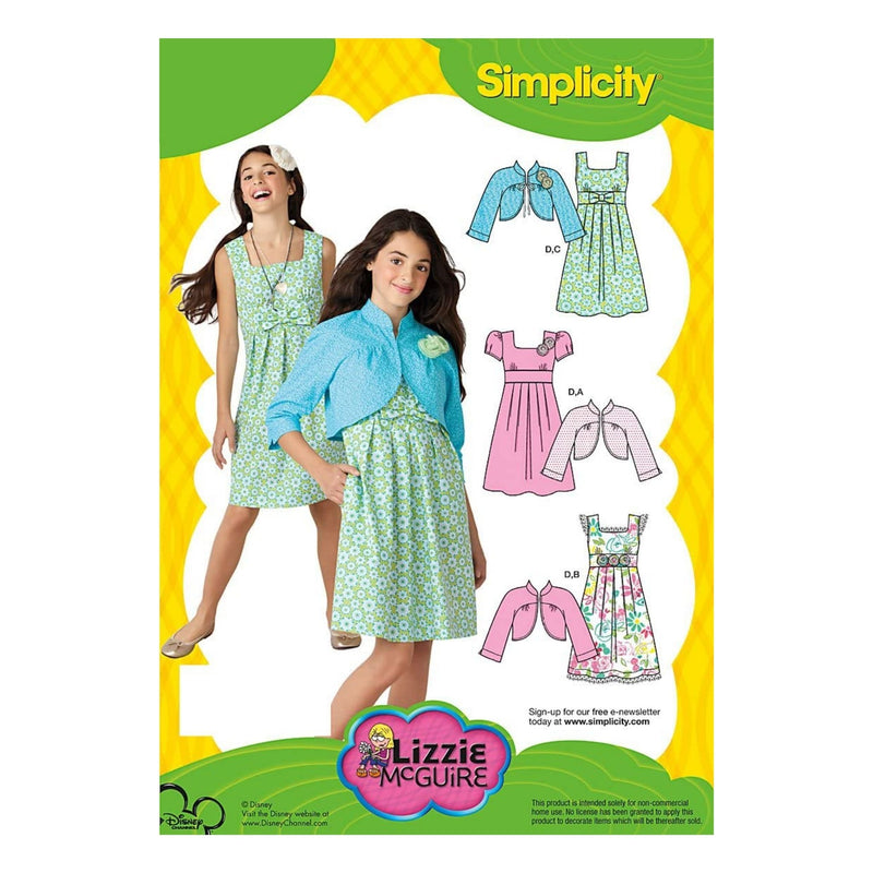 Simplicity Sewing Pattern 2266 Girl's Dresses, AA (7-8-10)